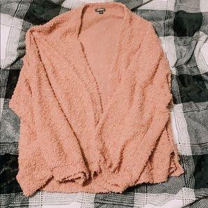 Cozy Baby Pink Cardigan